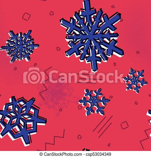 Christmas seamless snowflakes pattern with memphis styled snow stars christmas seamless snowflakes pattern with memphis styled snow stars for holiday ornaments corporate greeting prints m4hsunfo
