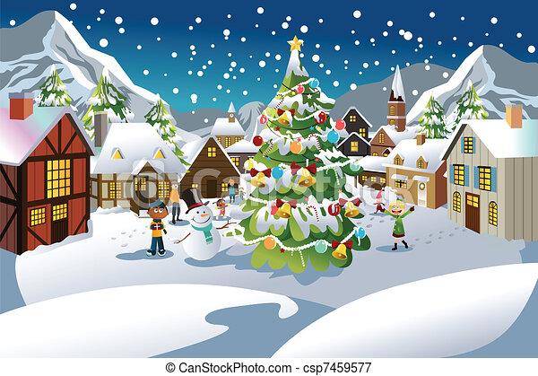 Christmas season - csp7459577
