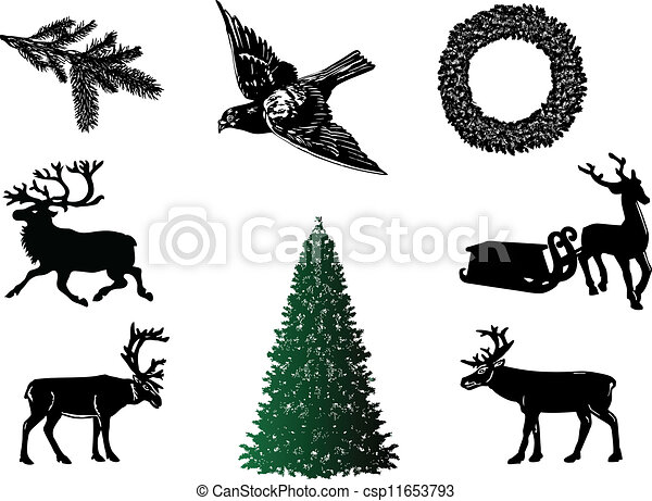 Christmas set-vector - csp11653793