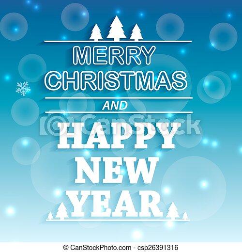 Christmas shiny blue background. - csp26391316