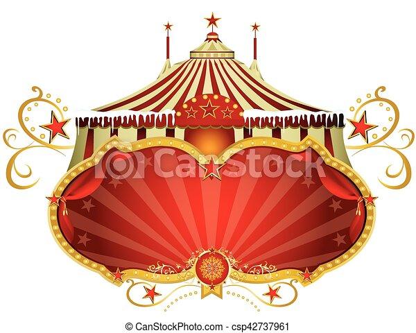 Christmas sign circus - csp42737961