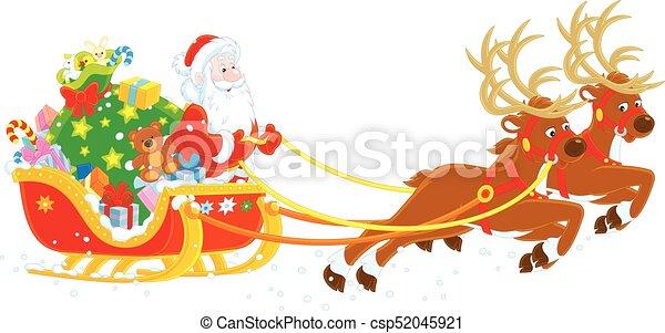 christmas sleigh images