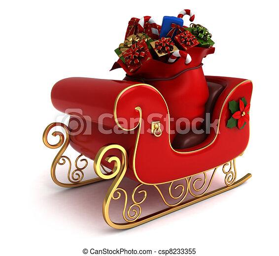 Christmas Sleigh - csp8233355