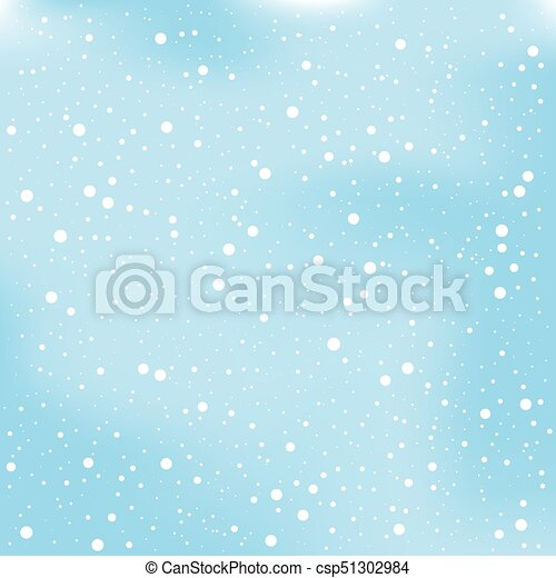 christmas snow and winter background vector illustration - csp51302984