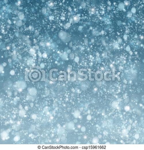 christmas snow background - csp15961662