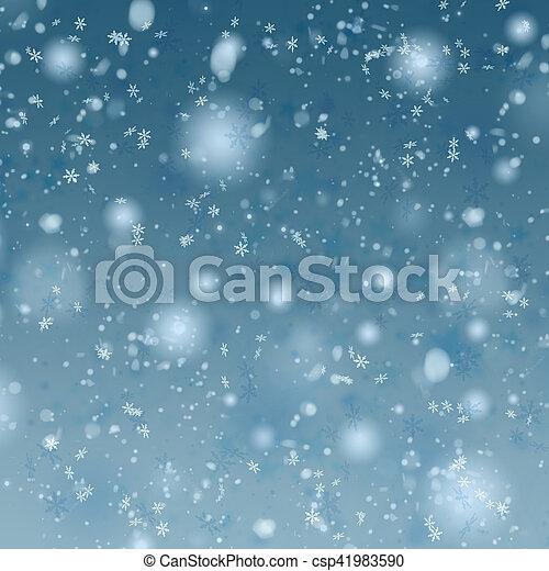 christmas snow background - csp41983590