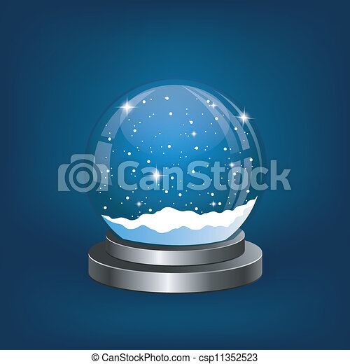 Christmas snow globe with the falling snow - csp11352523