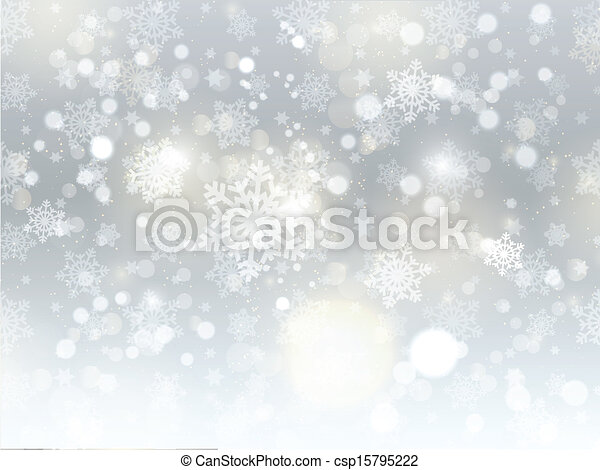 Christmas snowflake background - csp15795222
