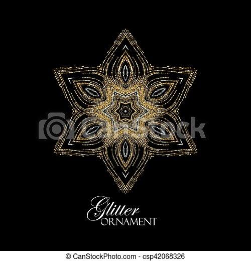 Christmas snowflake. Holiday decoration - csp42068326