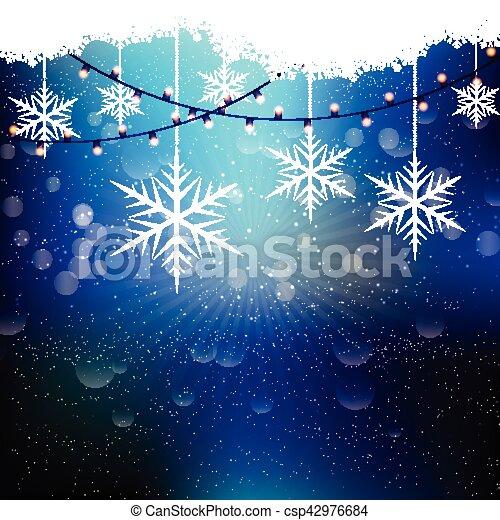 christmas snowflakes and lights 1210 - csp42976684