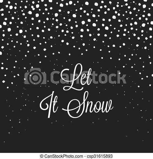 Christmas Snowflakes Background - csp31615893