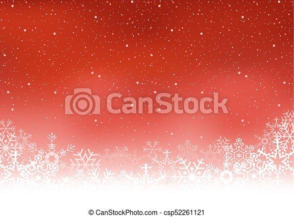 Christmas Snowflakes Background - csp52261121