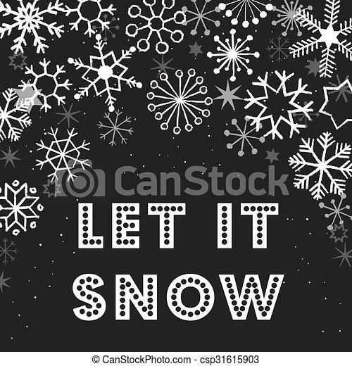 Christmas Snowflakes Background - csp31615903