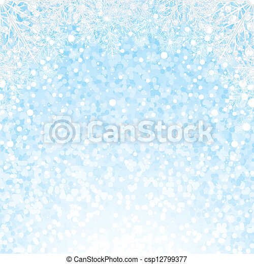 Christmas Snowflakes Background. Vector Background - csp12799377