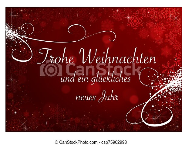 Christmas Snowflakes on Red Bokeh Background - csp75902993