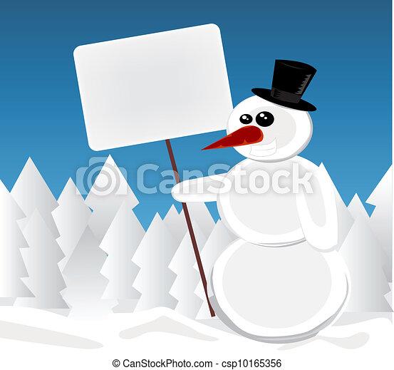 Christmas snowman - csp10165356