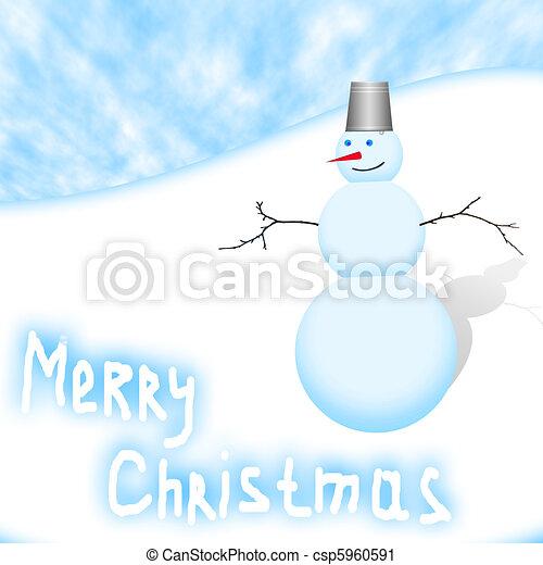 christmas snowman - csp5960591