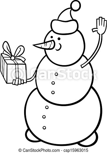 christmas snowman coloring page csp15963015