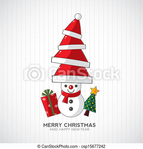 Christmas snowman - csp15677242