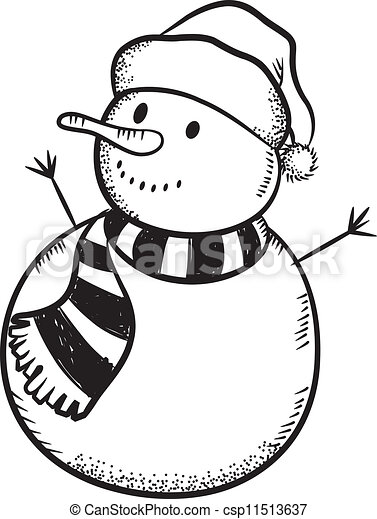 Christmas snowman - csp11513637