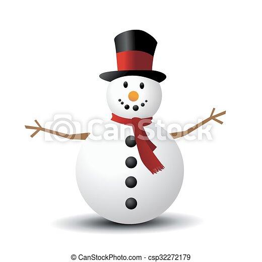 Christmas Snowman - csp32272179