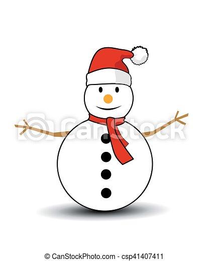 Christmas Snowman - csp41407411
