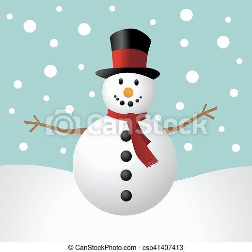 Christmas Snowman - csp41407413