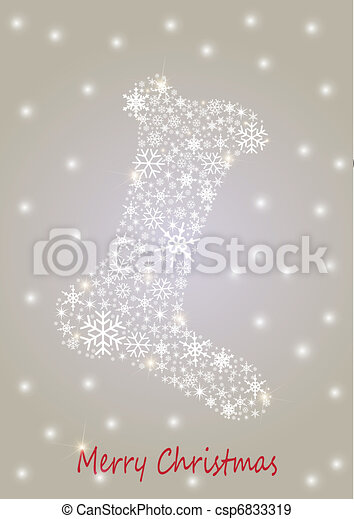Christmas sock - csp6833319
