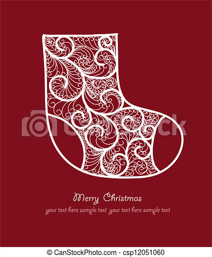 Christmas sock - csp12051060