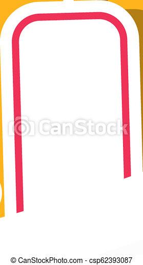Christmas sock stocking, winter landscape - csp62393087