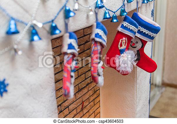 Christmas socks - csp43604503