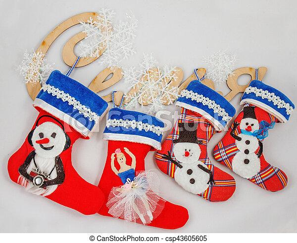 Christmas socks - csp43605605