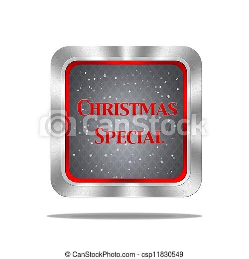 Christmas special button. - csp11830549