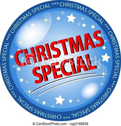 christmas special button - csp2166838