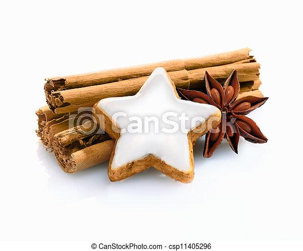 Christmas spice still life - csp11405296