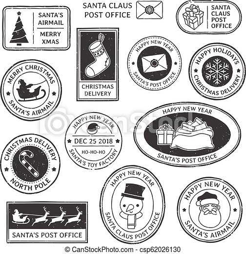 North Pole Post Office Rubber Stamp Royalty Free Cliparts, Vectors, And  Stock Illustration. Image 99227082.