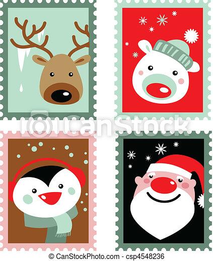 Christmas Stamps.Christmas Stamps