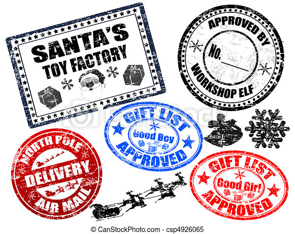 Christmas Stamps.Christmas Stamps Set