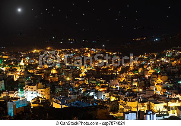 Christmas star above Bethlehem, Palestine, Israel - csp7874824