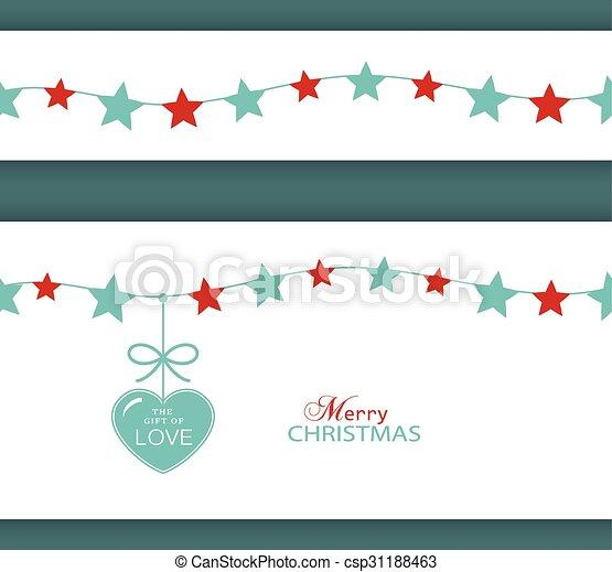 Christmas Star Border Clipart
