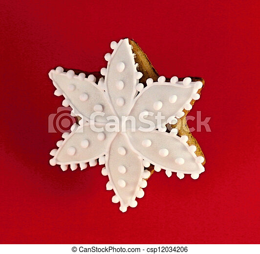 Christmas star made by gingerbread - csp12034206