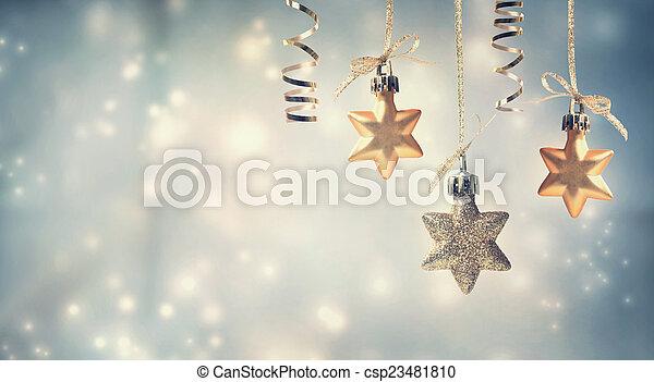 Christmas star ornaments - csp23481810