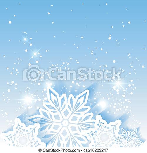 Christmas Star Snowflake Background - csp16223247