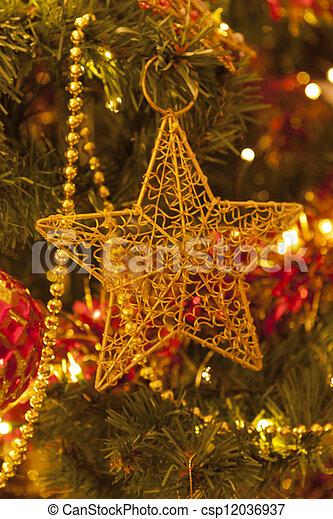 christmas star - csp12036937