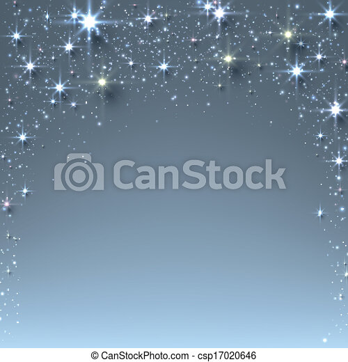 Christmas starry background with sparkles. - csp17020646
