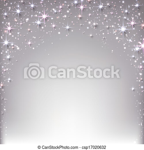 Christmas starry background with sparkles. - csp17020632