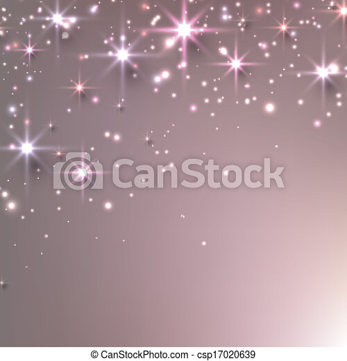 Christmas starry background with sparkles. - csp17020639