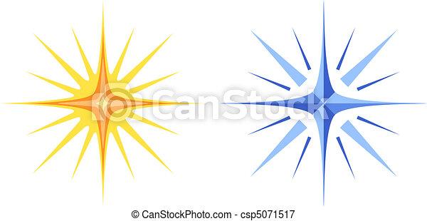 Christmas stars, set - csp5071517