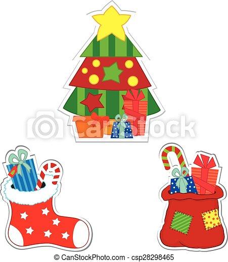 Christmas stickers - csp28298465