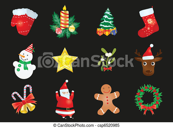 Christmas stickers - csp6520985
